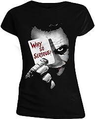 Batman The Dark Knight - Why So Serious? Camiseta Mujer Negro