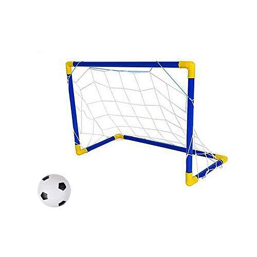 Vetrineinrete® Porta Da Calcio Per Bambini Gioco Calcetto Con Rete Giochi Per Giardino E Terrazzo 79X43X50 Cm A112