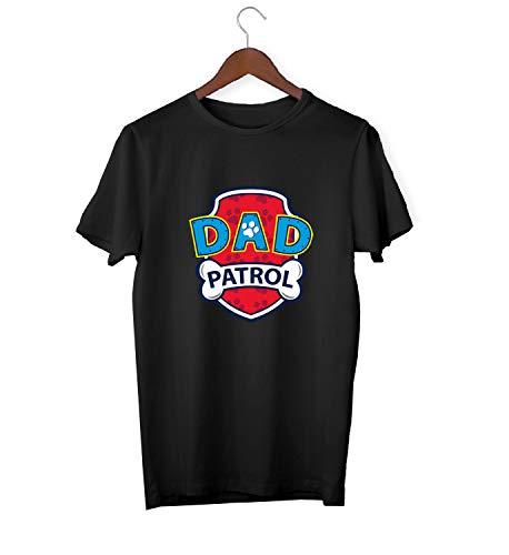 Dad Paw Patrol Logo_KK015726 Shirt T-Shirt Tshirt for Men Gift for Him Present Birthday Christmas - Man - Large - Black