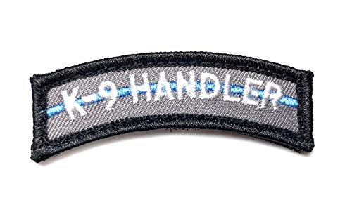 PakedDeals Thin Blue Line K9 Handler Morale Patch Hook & Loop Gear Bag Tac Vest Police