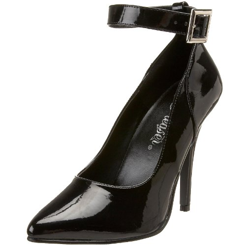 Pleaser SEDUCE-431, Damen Pumps, Schwarz (Schwarz (Blk Pat)), 44 EU (11 UK)