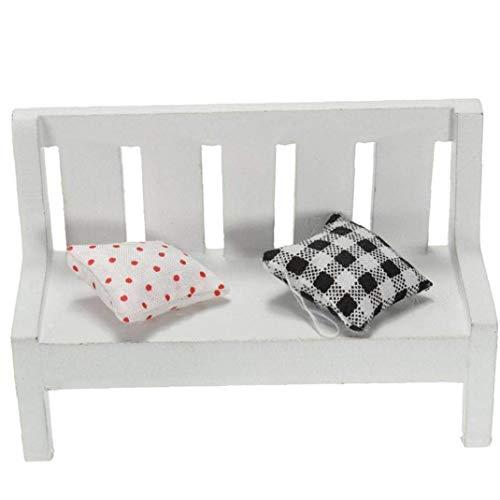 Dollhouse Furniture Mini Chair White Wooden Chair Ornament Desktop Decoration