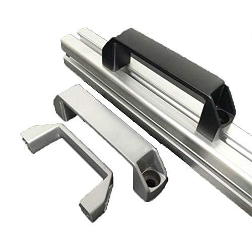 Piero aluminium kasthandvatten zwart zilver nylonlegering 90 mm 120 mm 180 mm deur Accessoire, aluminium zwart 120 mm