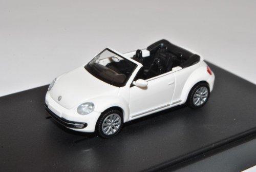 Wiking Volkwagen New Beetle II 2 Weiss Cabrio Ab 2012 9C H0 1/87 Modell Auto mit individiuellem Wunschkennzeichen