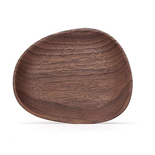 Bandeja Bandeja de madera natural, moderna y creativa sala de estar, mesa de centro, café en casa, estera for taza, bandeja de sushi de frutas, plato de postre, tabla de madera maciza Bandeja Antidesl