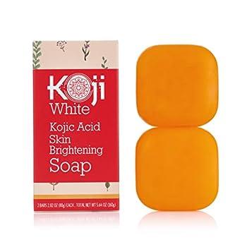 Pure Kojic Acid Skin Brightening Soap for Glowing & Radiance Skin Dark Spots Rejuvenate Uneven Skin Tone  2.82 oz / 2 Bars  | Maximum Strength SLS-free Paraben-free - Dermatologist Tested