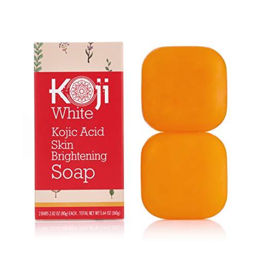 Pure Kojic Acid Skin Brightening Soap for Glowing & Radiance Skin, Dark Spots, Rejuvenate, Uneven Skin Tone (2.82 oz / 2 Bars) | Maximum Strength, SLS-free, Paraben-free - Dermatologist Tested