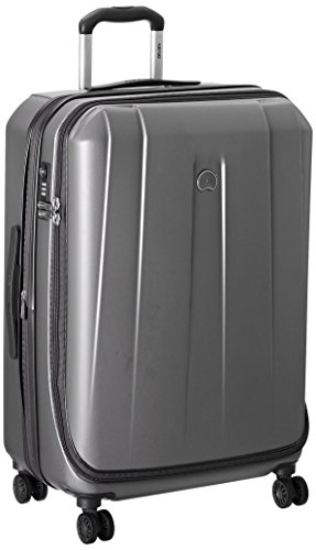 Delsey Helium Shadow 3.0 25-Inch Expandable Spinner Trolley, Platinum, One Size