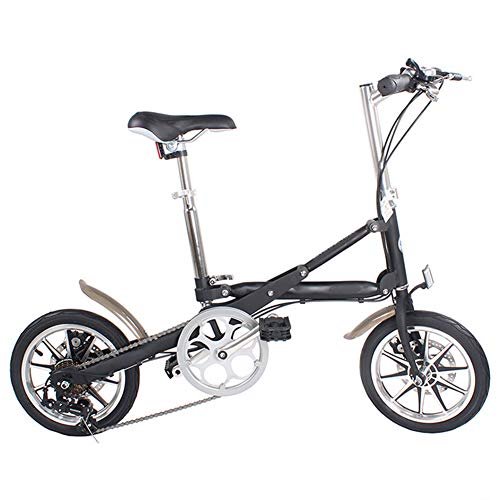 WHKJZ Folding Bicicleta Plegable Cuadro Ruedas 14