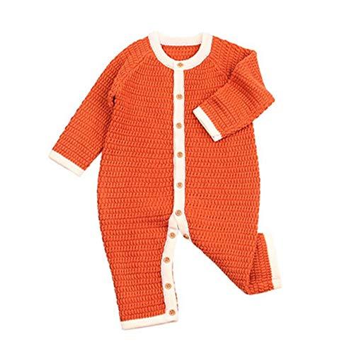 QIQI Maglione per Bambini Maglia, Bambino Solido Colore Manica Lunga Tuta Maglia Giacca Calda Autunno e Inverno Ragazzi e Ragazze Abbigliamento