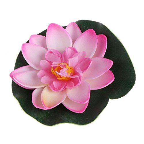 Yinuneronsty Kunstblumen, schwimmend, Lotusblumen, Seerose, Garten, Teich, Dekoration