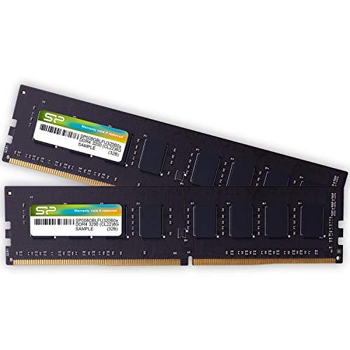 シリコンパワー デスクトップPC用メモリ DDR4-3200(PC4-25600) 8GB×2枚 288Pin 1.2V CL22 永久保証 SP016GBLFU320B22
