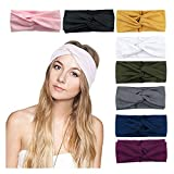 DRESHOW 8 Pack Women's Headbands Headwraps Hair Bands Bows Hair Accessories