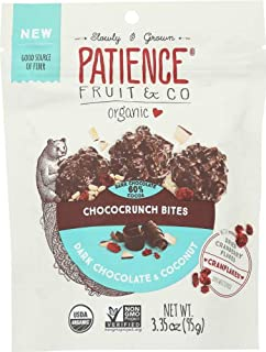 Patience Fruit & Co. Dark Chocolate Coconut Bites, 3.35 oz ( pack of 8)