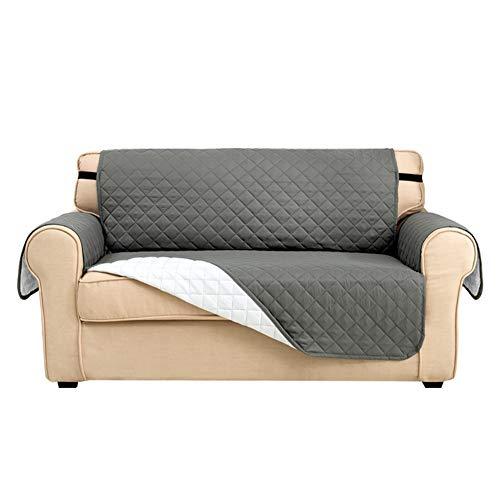 Fundas de sofá, fundas de sofá, fundas de sofá, fundas para perros, protectores de sofá para perros/mascotas y niños, resistente al agua suave gruesa con hebilla (gris claro, 2 plazas)