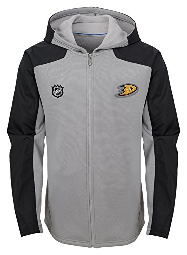 Youth Small NHL by Outerstuff NHL Anaheim Ducks Youth Boys Asset Pullover Hockey Hoodie 8 Black
