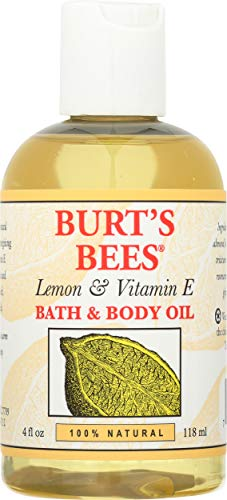 Burt's Bees 100% Natural Lemon and Vitamin E Body and Bath Oil - 4 Ounce Bottle