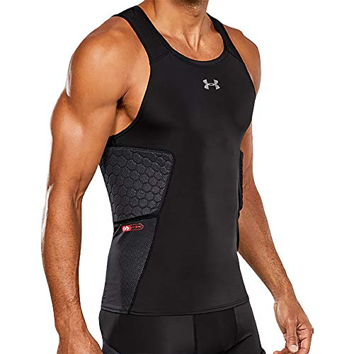 Under Armour Gameday Armour 3-Pad Basketball Tank, BLK,LG