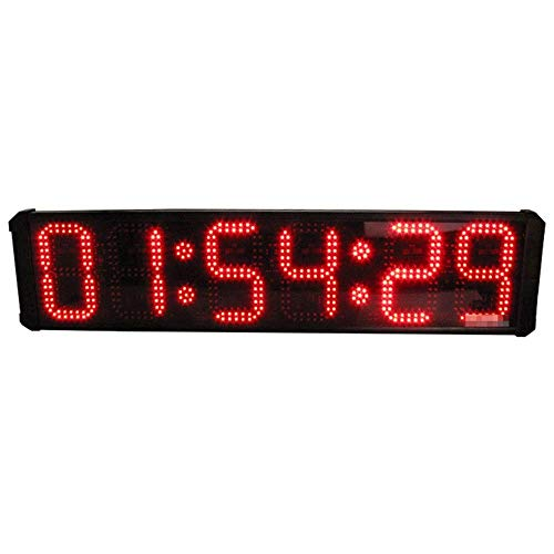 Shelf Gimnasio Timer Countdown Reloj LED Temporizador de funcionamiento 8 pulgadas 6 dígitos Gran maratón al aire libre Digital Digital Cuenta atrás ARRIBA Reloj Reloj de pared Reloj despertador (Colo