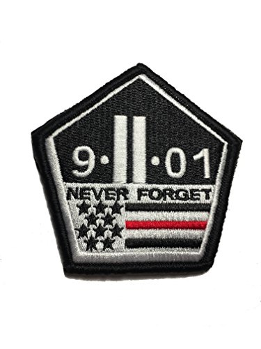 Thin Red Line 9/11 Never Forget hook/loop Morale Patch 3 x 3.5