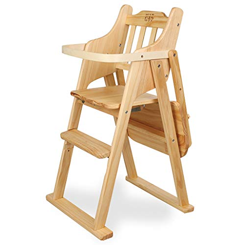 Best Price Solid Wood Portable Folding Baby Dining Chair Children's Dining Table Chair Multi-Functio...