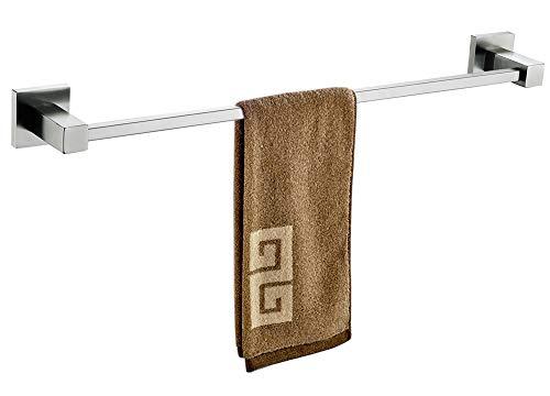 Toallero para baño de acero inoxidable 304 toallero moderno cuadrado para barra de toalla a prueba de óxido de níquel cepillado 60,96 cm