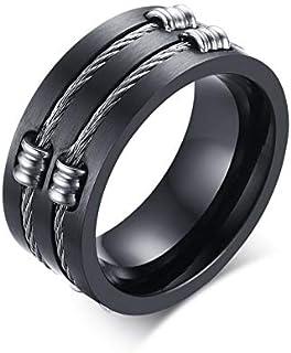 خاتم أصلي Wia من الفولاذ المقاوم للصدأ مجوهرات الرجال خاتم أسود الذيل الدائري