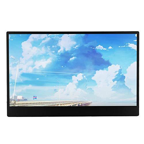 Vbestlife1 Monitor IPS de 13,3 Pulgadas Full HD (1920 x 1080) Monitor de Pantalla HDMI portátil ultradelgado para Juegos/microscopios/DVD/cámaras