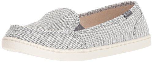 Roxy womens Minnow Slip on Sneaker, Grey, 8.5 US