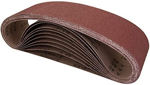 Bandas de Lija 30 x 330 x 240mm, 30 x 330 x 800mm 5 cada uno para Lijadora de Banda,para Quitar el Polvo, Quitar la Pintura y Pulir