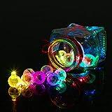 Yuccer Mini LED Bombillas Luz, Balloon Lights para Globo Celebración Cumpleaños Partido Decoración Luces de Globo 100 Piezas (A Round)