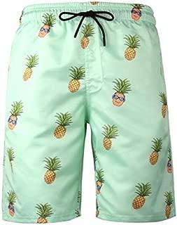 BEESCLOVER Pineapple 6XL Plus Size Swimwear Men Swim Shorts Swimming Men Swimsuit Men Bathing Suit Sport Wear Beach Shorts Quick Dry 317 Green 707 M