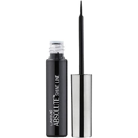 Lakmé Absolute Shine Liquid Eye Liner, Intense Color, Long Lasting, Glossy Texture, Black, 4.5 ml
