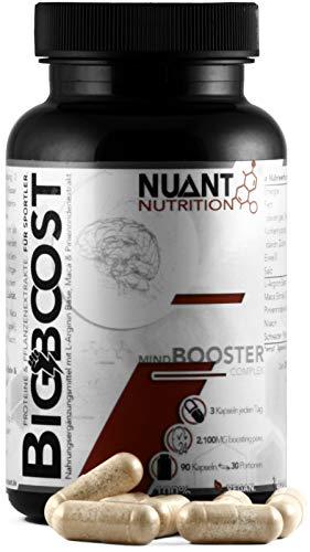 NUANT® – BIG BOOST | Fokus-Booster mit L-Arginin & Maca Extrakt (1 x 90 Kapseln)