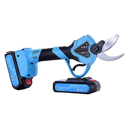 Best Prices! Hengyuanyi-Tools Professional Cordless Electric Pruning Shears, 2 Pieces of Spare Recha...