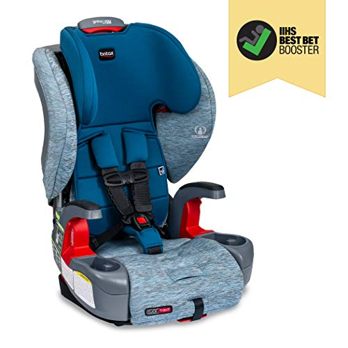 Britax USA Grow with You ClickTight Harness-2-Booster Car Seat - 2 Layer Impact Protection - 25 to 120 Pounds, Seaglass [Newer Version of Frontier]