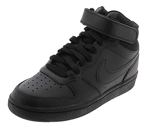 Nike Court Borough Mid 2 (GS), Scarpe da Basket, Black Black Black, 37.5 EU