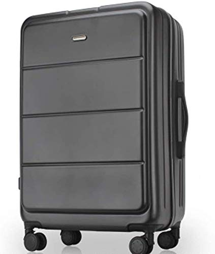 YIWANGO Caster Trolley Case, Sports Suitcase, Thick Aluminum Frame, Zippered Luggage, 20' / 24', With Double Row Of 4 Universal Wheels And TSA Combination Lock Activity wheel