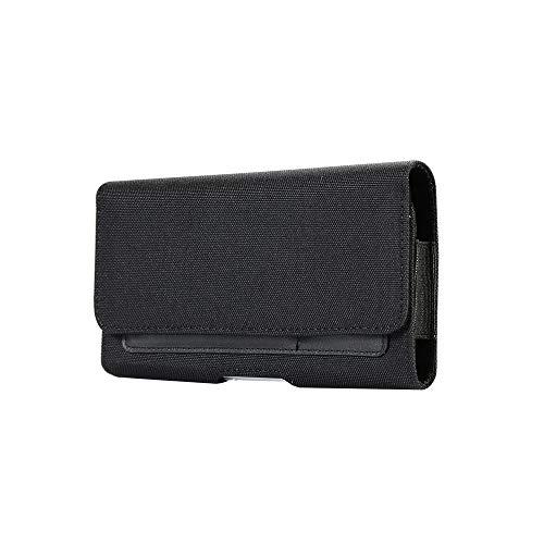 Horizontale Leinen-Tasche mit Gürtelclip für iPhone XS Max XR 6Plus Galaxy S10+ S8+ S9 Plus J7 / BLU Vivo XL4 / Dash XL/VIVO XI+ / LG V50 V40 G7 ThinQ/OnePlus 6