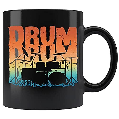 Vintage Drum Drumming Drummer Musical Instrument Ceramic Coffee Mug Tea Cup