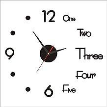 Liloee DIY Clock Acrylic Digital Wall Clock 3D Stereoscopic Silent Electronic Clock