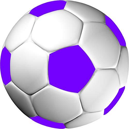 Tortenaufleger Fussballparty Fußballparty Kindergeburtstag Fussball Fußball in 3D-Optik für einen tollen 3D-Effekt Rund 20 cm FB02 (Violett)