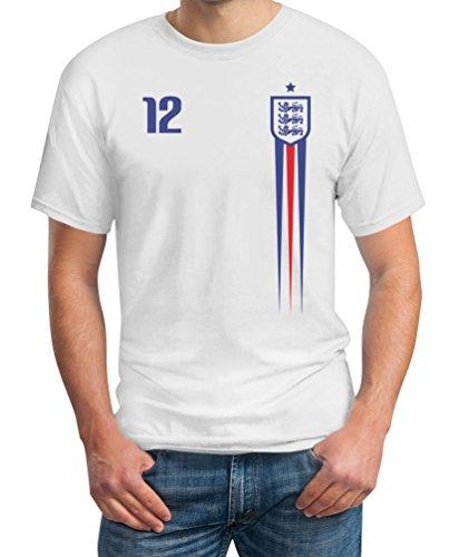 England EM Shirt Trikot 2021 Fanshirt Fanartikel T-Shirt Large Weiß