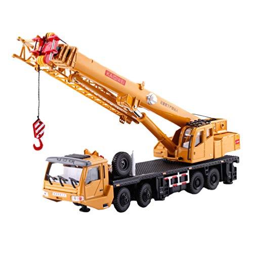 Tomaibaby Camión de Ingeniería de Aleación Modelo de Tractor Juguetes Juego de Grúa Modelo 1:55 para Niños Pequeños Juguetes de Fiesta de Navidad Regalos Adorno de Escritorio para El Hogar