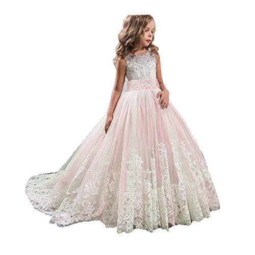 Amphia - Mädchen Spitze Blumenkleid Tutu Princess Dress (5J-1J) - Spitze Mädchen Prinzessin Brautjungfer Pageant Tutu Tüll Kleid Party Brautkleid