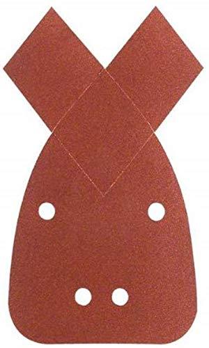 Bosch Schleifblatt (für Multischleifer verschiedene Materialien, 5 Stück, 95 x 135 mm, Körnung 80)