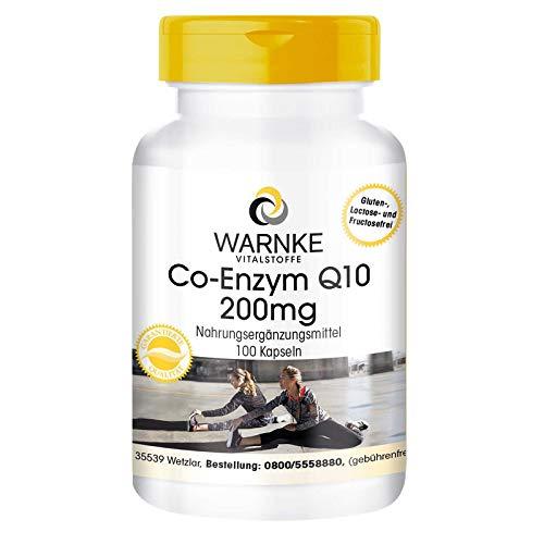 Coenzym Q10 200mg - CoQ10 Kapseln - hochdosiert - Ubichinon - 100 Kapseln