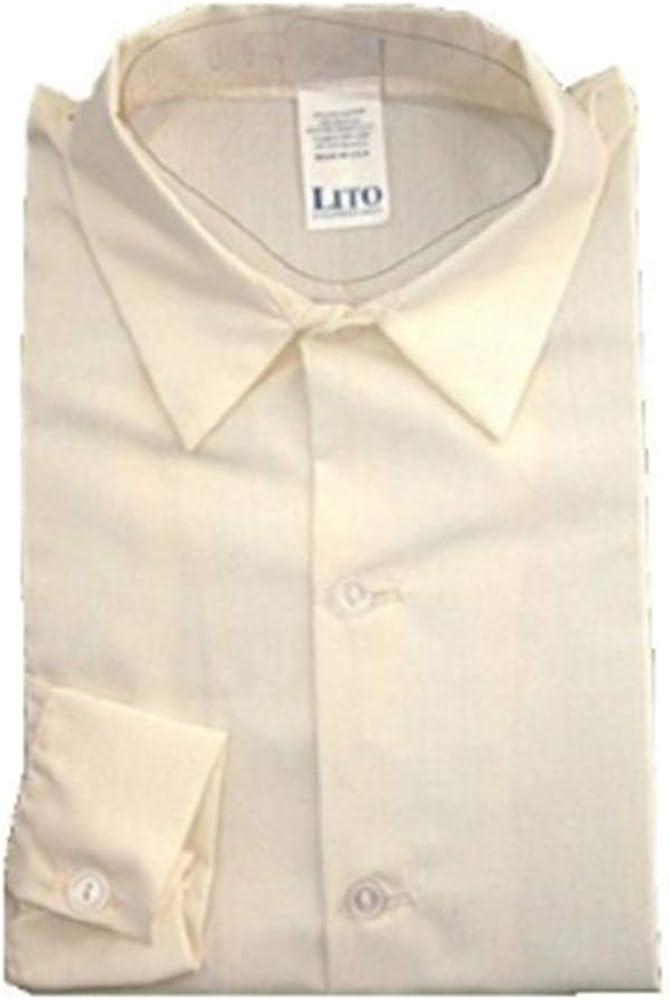 Boys Ivory Long Sleeve Dress Shirt (XL 18 - 24)