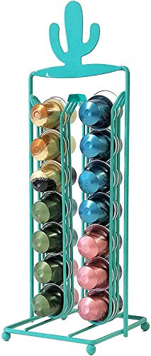 Percilun Dispensador Capsulas Nespresso de Diseño Decorativo Cactus, Soporte Capsulas Nespresso Color Verde, Porta Capsulas Nespresso Soporte