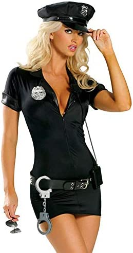 Cuteshower Women s Police Uniform Cop Costume with Handcuffs Large product image